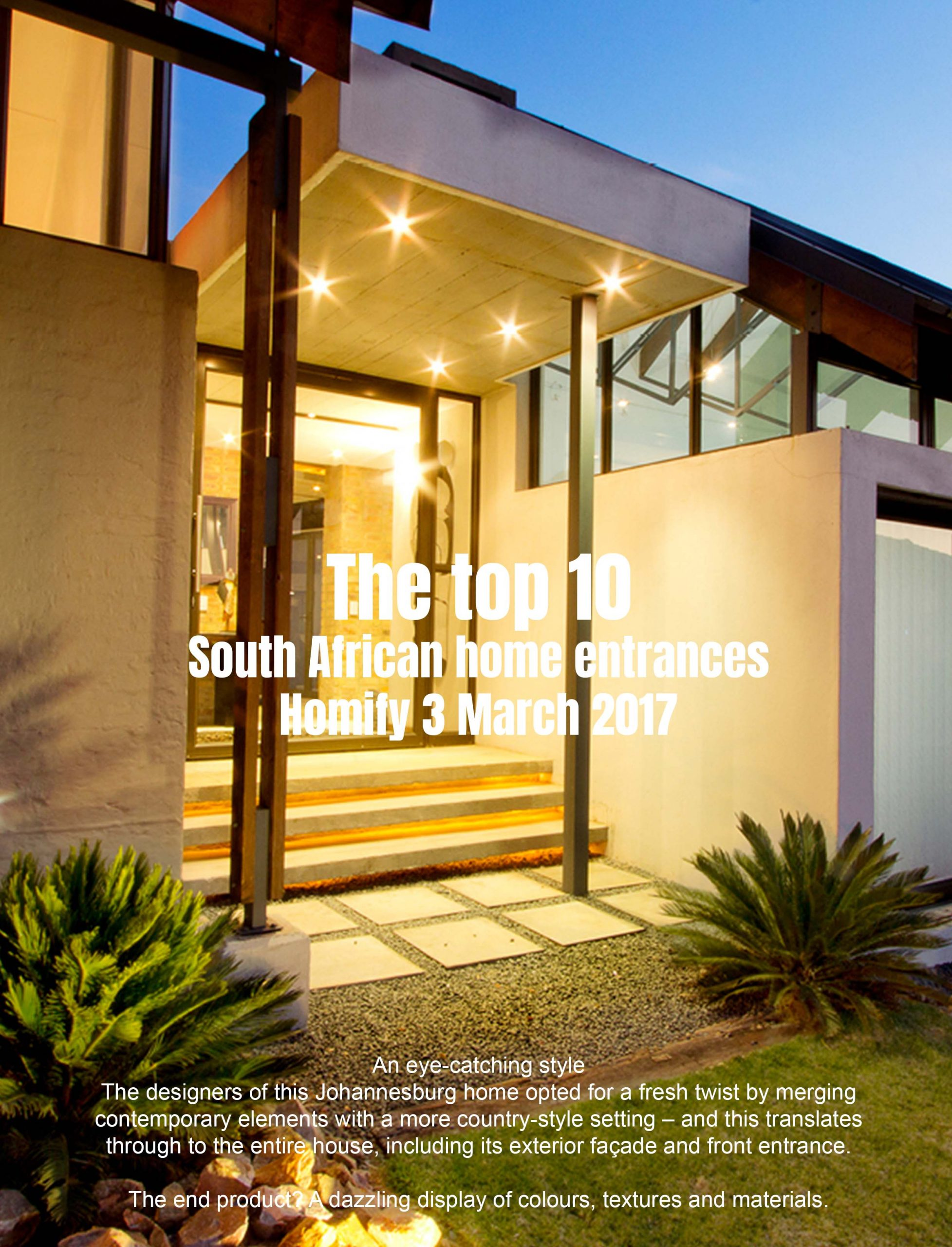Homify-The top 10 South African home entrances pic